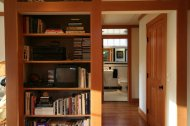 bookcase in home